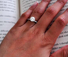 Delicate Decadence, an Engagement Ring for Questioneer