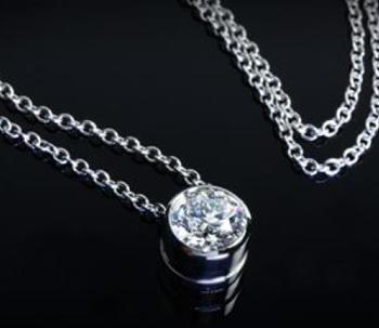 bezel diamond pendant ready set to go