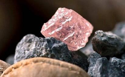 12.76 carat rough pink diamond, the largest pink diamond found in Australia