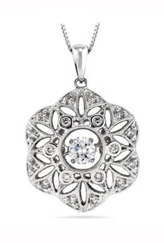 Ritani Rhythm of Sparkle diamond vintage-inspired diamond pendant