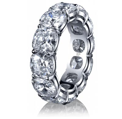 Cushion Cut Diamond Eternity Ring by Robert Procop