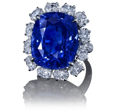 38 carat Sapphire and Diamond Ring by Robert Procop