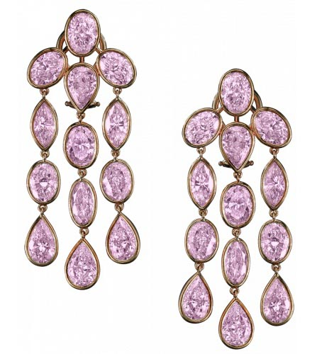 Pink Diamond Earrings by Robert Procop