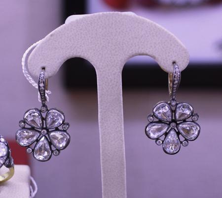 Norman Covan rose cut diamond earrings JCK Luxury 2011