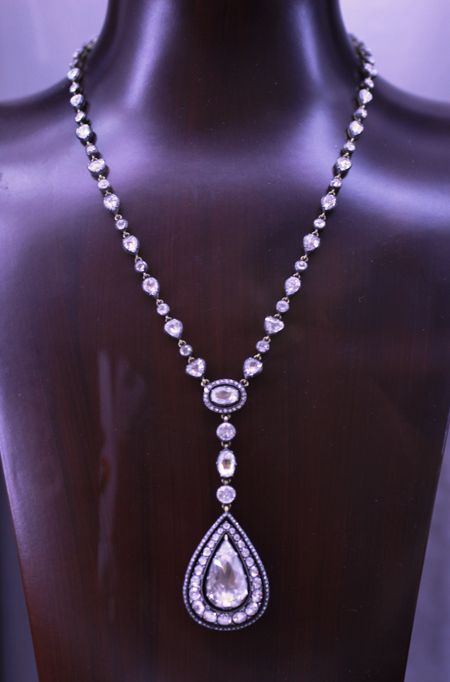 Norman Covan Rose cut diamond necklace JCK Luxury 2011