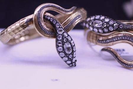 Norman Covan rose cut diamond serpent bracelets JCK Luxury 2011