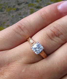 Vatche Rose Gold Engagement Ring