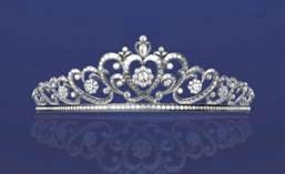 Asscher diamond tiara