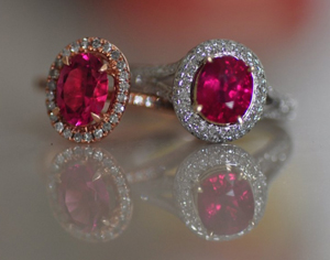 Rubellite and Ruby ring