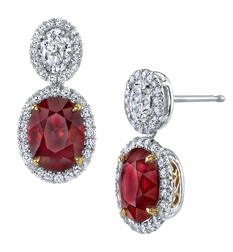 Ruby and diamond earrings by Omi Privé