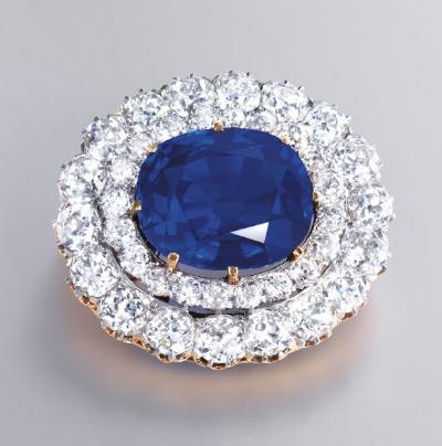 Kashmir Sapphire brooch Christie's Hong Kong November 29, 2011