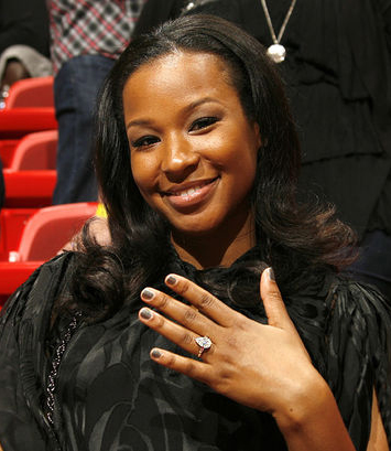 Savannah Brinson's engagement ring from LeBron James