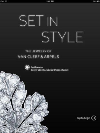 Van Cleef & Arpels Ipad App for Set in Style exhibition
