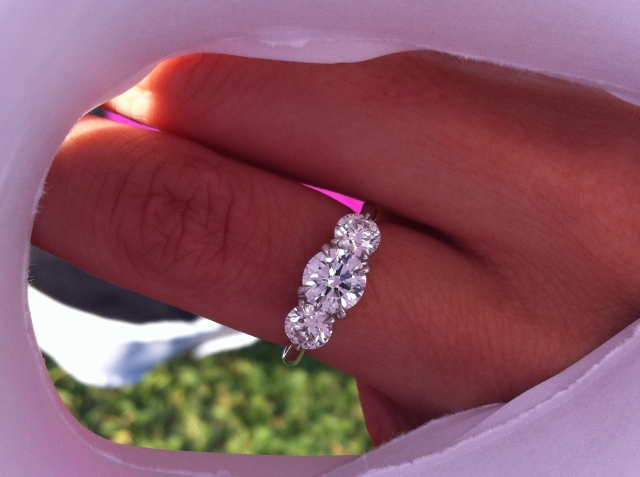 IDJ Three Stone Engagement Ring