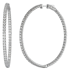 Since1910 6.20-carat diamond hoop earrings