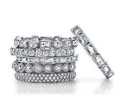 Single Stone Diamond Eternity Bands