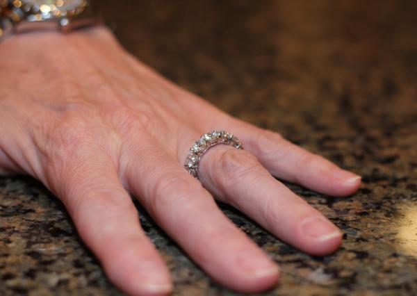Custom platinum diamond eternity band