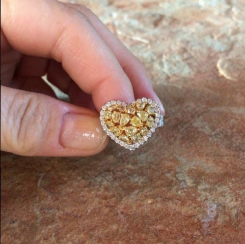 Sjroberts's Fancy Yellow Diamond Heart Ring
