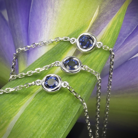 Smith1940 Whiteflash sapphires by the yard custom necklace