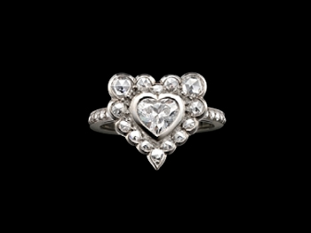 Solange Azagury-Partridge heart diamond ring