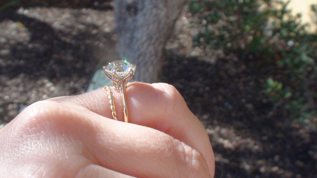 Custom solitaire ring with old European cut diamond shared by valmanin