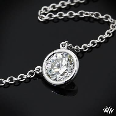 Platinum versimo diamond pendant at Whiteflash