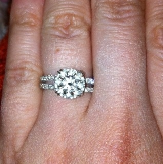 Solitaire Engagement Ring by Leon Mege featuring and Ideal Cut Whiteflash ACA Diamond