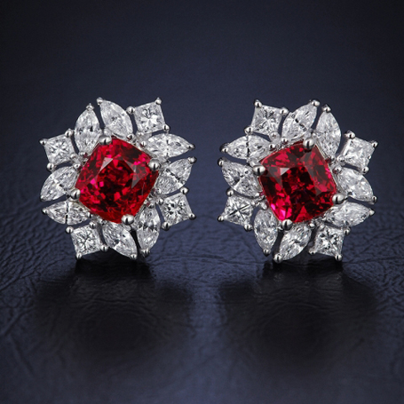 Spinel and diamond earrings - Image by OTL