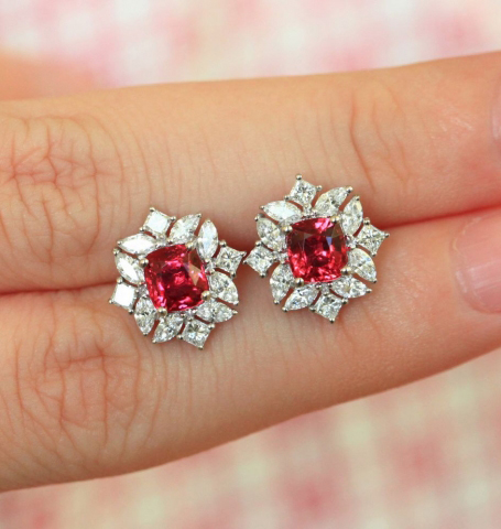 Spinel And Diamond Earrings Image By Otl