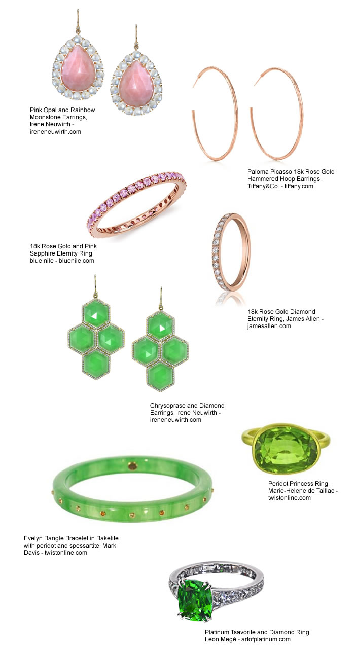 Spring Jewelry Irene Neuwirth, Tiffany & Co., Blue Nile, James Allen, Leon Mege, Twist