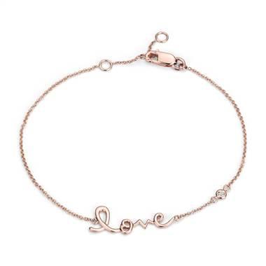 Love bracelet in 14kt rose gold at Blue Nile