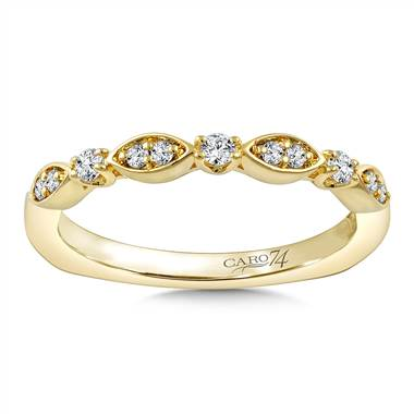 Stackable wedding band in 14K yellow gold at I.D. Jewelry