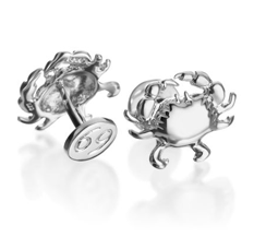 Robin Rotenier sterling Cancer zodiac cufflinks at Michael C. Fina