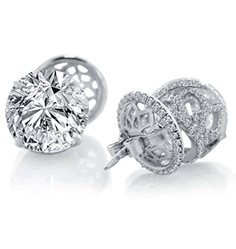 Steven Kirsch Diamond Stud Earrings