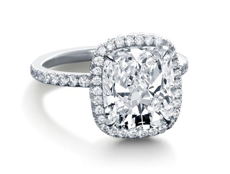 floral micropav halo diamond engagement ring by steven kirsch