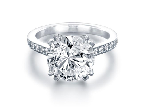 Rose Bud diamond solitaire engagement ring by Steven Kirsch