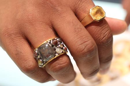 bavna sunny jain rings Couture 2011