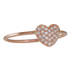 Diamond heart ring by Suzanne Kalan