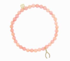 Sydney Evan Coral Diamond Wishbone Bracelet
