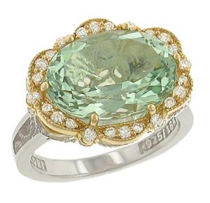 Tacori 18k925 Prasiolite Diamond Ring