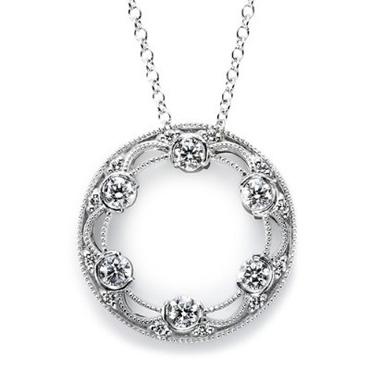 Tacori pavé diamond pendant