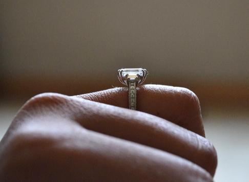 Tacori Emerald-Cut Diamond Engagement Ring, Profile