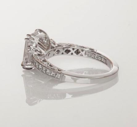 Tacori Emerald-Cut Diamond Engagement Ring, Gallery