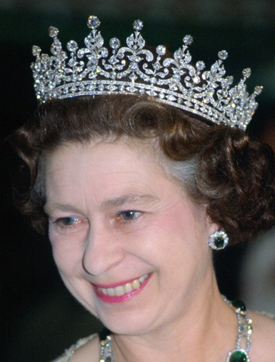 The Girls of Great Britain and Ireland Tiara worn by Queen Elizabeth II