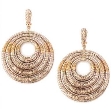 The World of Champagne earrings worn by Barbara Eve Harris at the 2012 Oscars