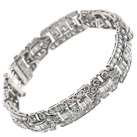 Art Deco Tiffany & Co. diamond bracelet from Tenenbaum & Co.
