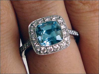 Tiffany Legacy ring with Aquamarine