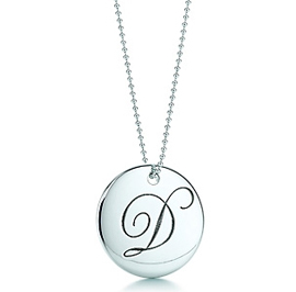Tiffany Notes Letter D Pendant