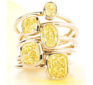 Yellow Diamonds, Tiffany, Raymond lee jewelers