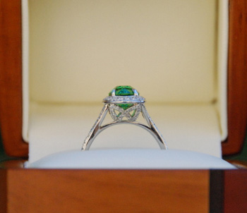 Tsavorite Diamond Ring